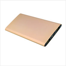 Wholesale best metal shell golden mobile power bank 5000mah super slim power bank with 2USB port