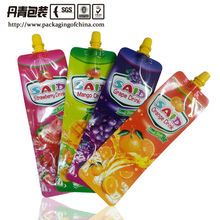 colorful juice packaging bag strawberry,orange,mango,Plastic Spouted Pouch for Juice Beverage Bag