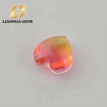 Buy china factory direct heart gems lab colored tourmaline cabochon gemstones for jewelry set