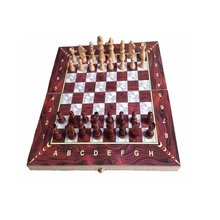 high quality antique wooden play games folding chess board