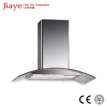 "36"" Curved glass kitchen island hood/Ceiling mounted european island hood two side control switch JY-HI9003"