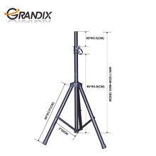 Heavy duty professional height adjustable metal tripod speaker stand