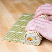 Japanese type natural flat bamboo stick sushi roll roller mat