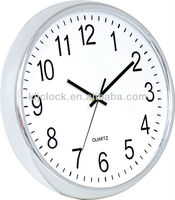 12 inch Plastic Wall Clock WH-6927 with arch glass cover for home decoration and office
