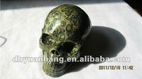 Wholesale cheap Natural malachite stone carved skull,natural crystal skull,malachite carvings