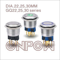 ONPOW metal pushbutton switch(GQ22 Series,Dia.22mm,CE,ROHS,REECH,IP65,Anti vandal)