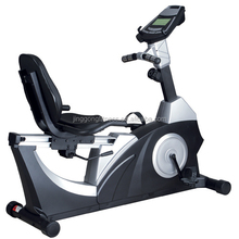 Hot selling gym equipment / Light commercial indoor cycling / Deluxe Magnetic Recumbent Bike with TV JG-1116