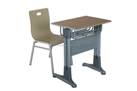 Hot Products Adjustable School Furniture Price Suppliers Single School Desk and Chair