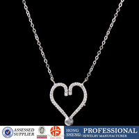 New model fashion necklace, wholesale silver jewelry for women