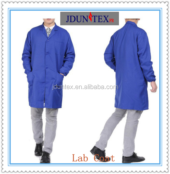 Jduntex Promotion High Quality Workwear blue color Anti-bacterial hospital wear Long Coat