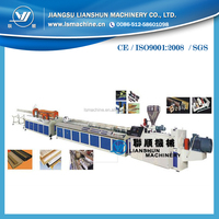Wood plastic composite profiles special shape making line with new style