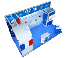 custom portable cheap trade show exhibition display, free design exhibition booth design