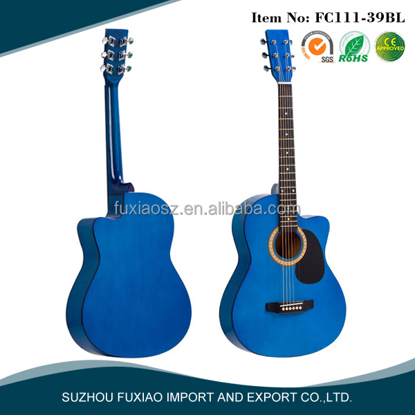 Blue fashion linden acoustic guitar
