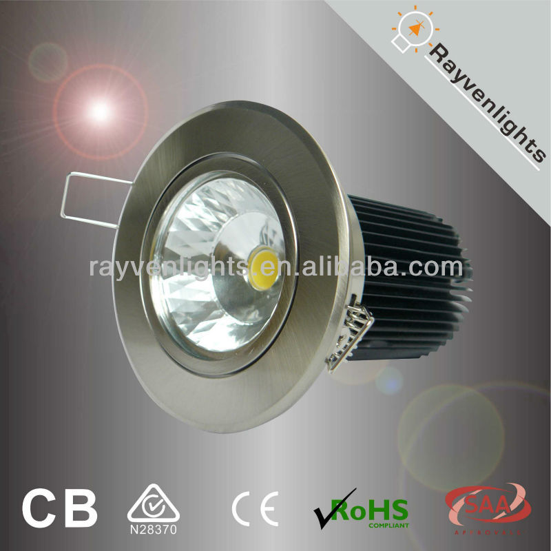 SAA Approvel dimmable 10W led false ceiling lights with 92mm cut out,Citizen chip, RA>80, Beam angle 30 or 60 degree