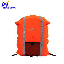 High Visibility outdoor sport waterproof nylon Backpack Cover with LED