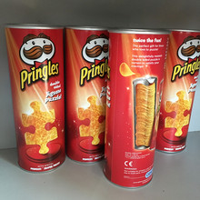 Food storage container potato chips paper tube cylinder sealing with aluminum foil
