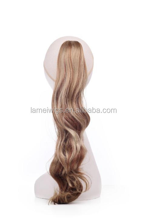 PT0027 ponytail cosplay wig,blonde ponytail wig,blonde curly ponytail
