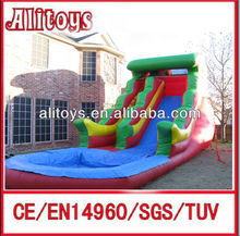big cheap inflatable used commercial water slides for sale