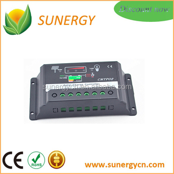 China Short circuit protection charge Solar controller 12V 24V