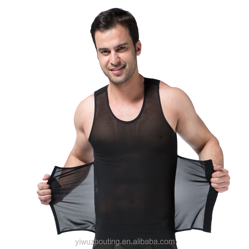 Men tight slimming vest shirt