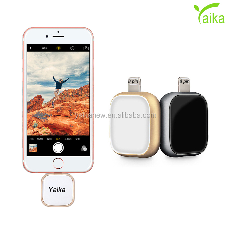 Yaika 2018 new arrival 3 in 1 square glass alloy customize logo preminum gadget gift 8pin OTG USB <strong>flash</strong> drive for iphone 8 X