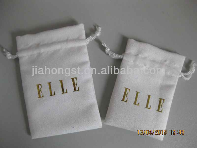 2013 new ELLE suede drawstrig pouch bag
