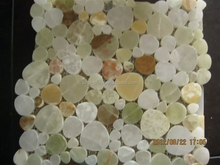 green onyx pebble shape mosaic tiles
