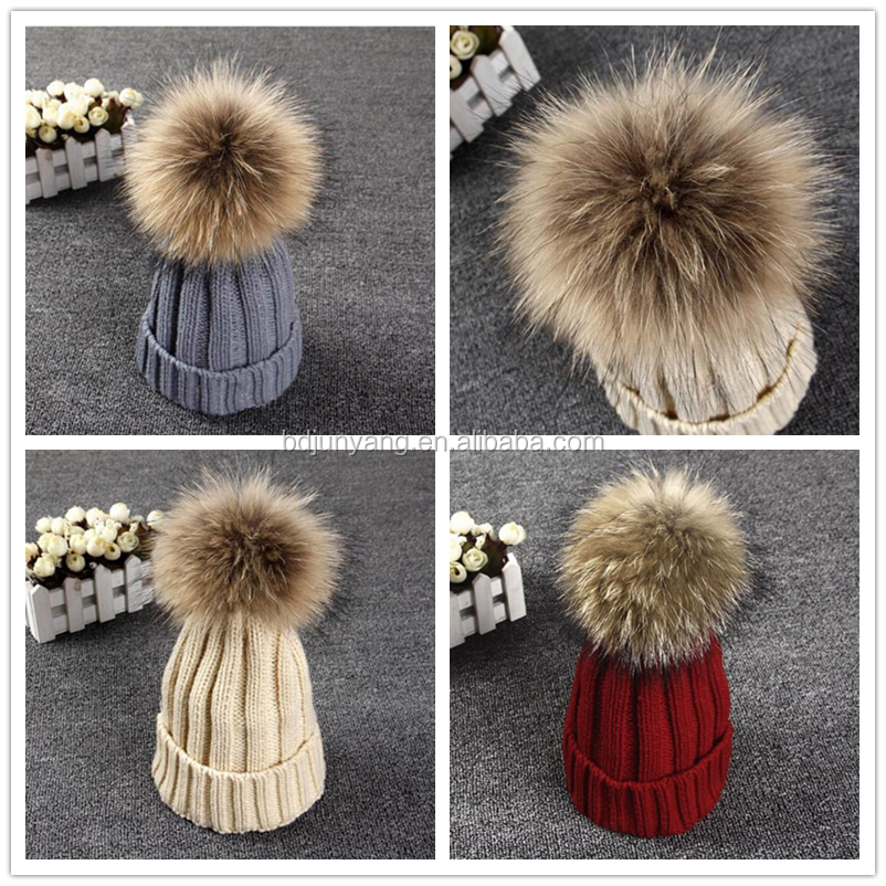 weddings decoration detachable fur pom pom beanie hats custom pompom knit hat pompom for hat