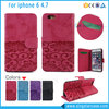 2016 New Luxury Flip PU Leather Mobile Phone Wallet Case for iPhone 6/ 6 Plus/ 6s/ 6s Plus