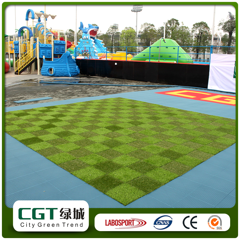 Indoor outdoor decor laying easy install quality padded leisure synthetic grass artificial turf