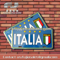 Italia flag printed car decoration metal sign