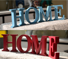 wooden carved letters home decor