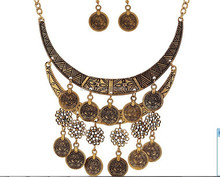 Charismatic Coin Polki Necklace Set Coin Jewelry Collection Sets With Coin Tassel