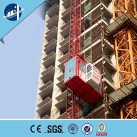 double cages building construction hoist/rack and pinion construction material building hoists