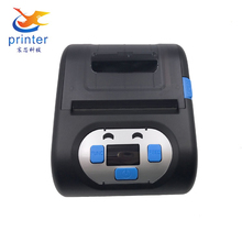 80mm portable mini printer wireless direct thermal label printers with rechargeable battery