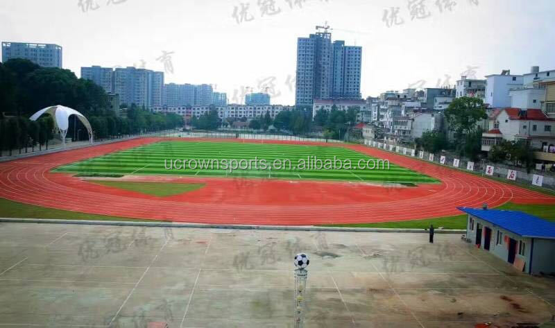 rubber running track surface/ sports court floor/,full PU running track