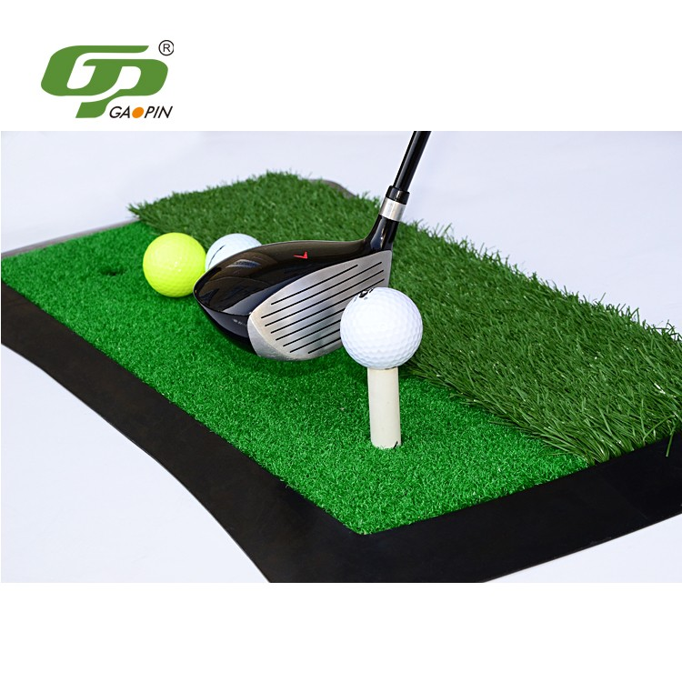 High durability rubber base artificial grass golf putting mat