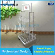 Potato chips metal display rack shopping mall use food display stand
