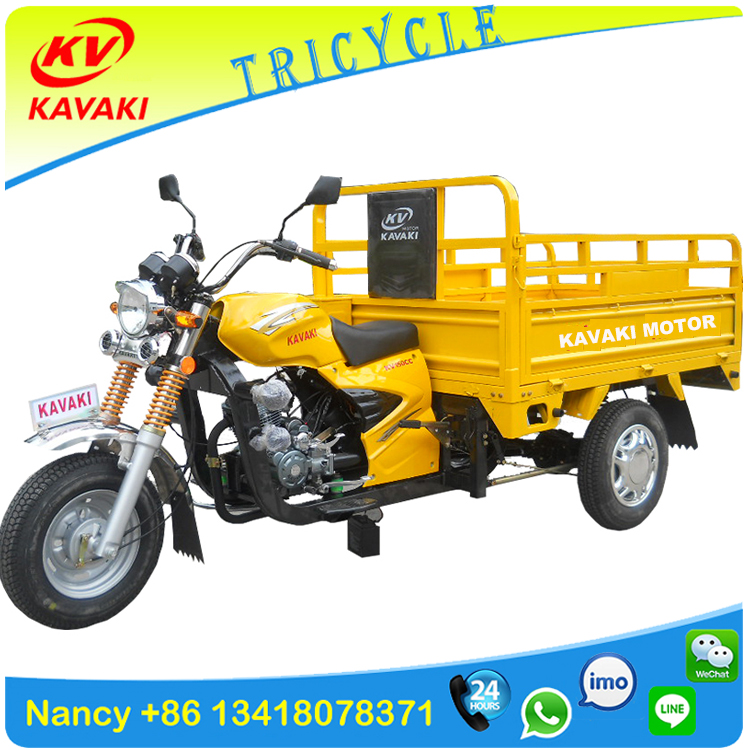 Guangzhou tricycle factory supply China new air-cooled three wheel cargo motorcycle