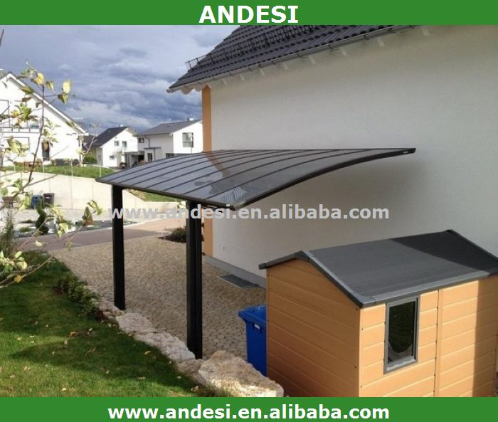aluminum carport garage with polycarbonate roofing