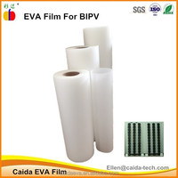 Caida fast cured super clear solar eva film for BIPV