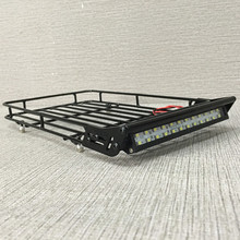KYX 1/10 RC Rock Crawler Accessories Aluminum Luggage Tray w/ 4 White Led