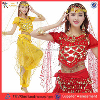 PGWC1793 Wholesale mixed color cheap belly dance costume set performance costume, plus size