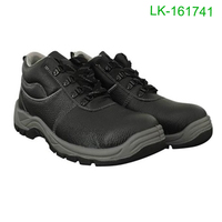 Wholesale PU Injection sole Steel Toe Cap Men Leather Safety Shoes Stocks