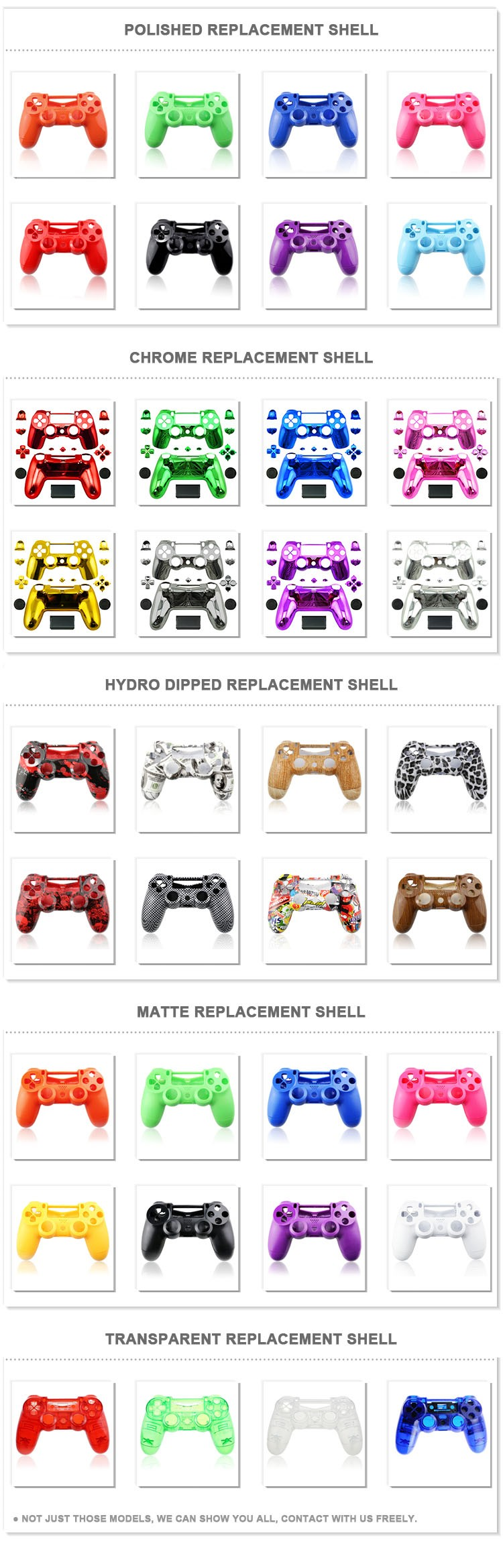 For ps4 sony playstation 4 controller colorful Comb housing shell
