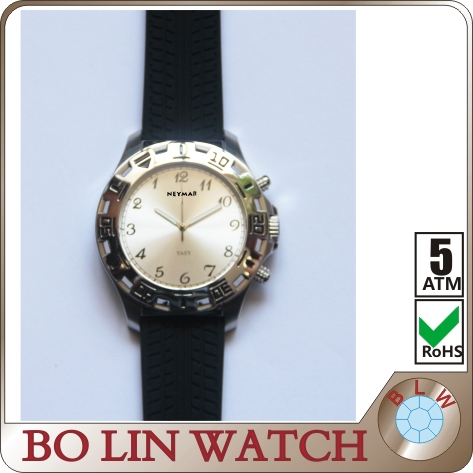 Pattern leather strap fashional outdoor customized men quartz watch