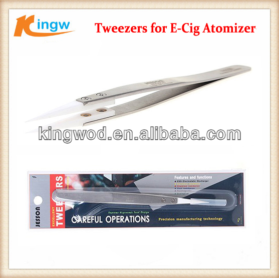 Heat Resistant Stainless Steel Tweezers for E-Cigrettes ceramic tweezers