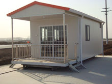 flat roof prefab house, chalet house, foldable portable house