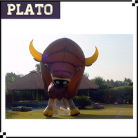 giant cow advertising inflatables, inflatable bison model for advertising or exhibition
