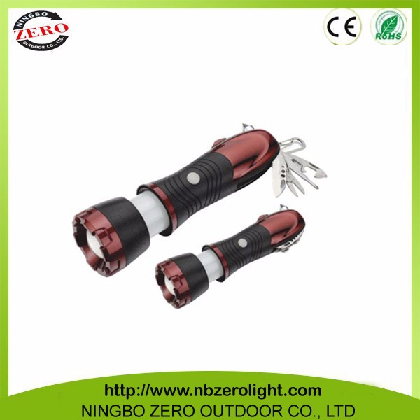 Top Quality Promotion Custom Metal led Turn Spin Zoom Led Tool Flashlight